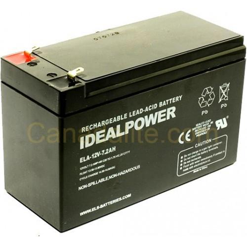 Emergency Light Battery Ela 12v 7 2ah 12 Volt Capacity Rechargeable Sealed Lead Acid
